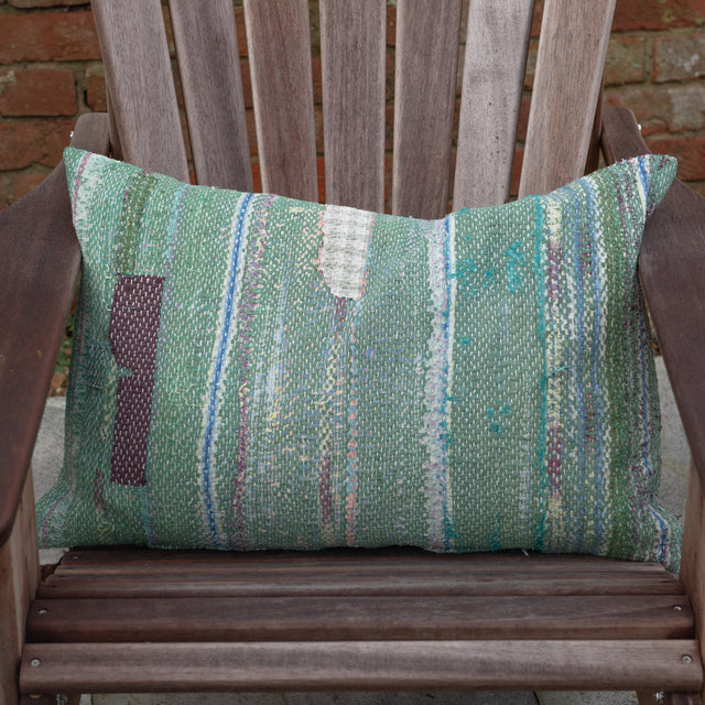 Vintage Kantha Cushion (large rectangle)