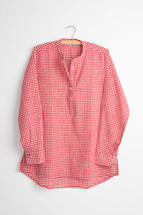 Check Khadi Long Back Shirt