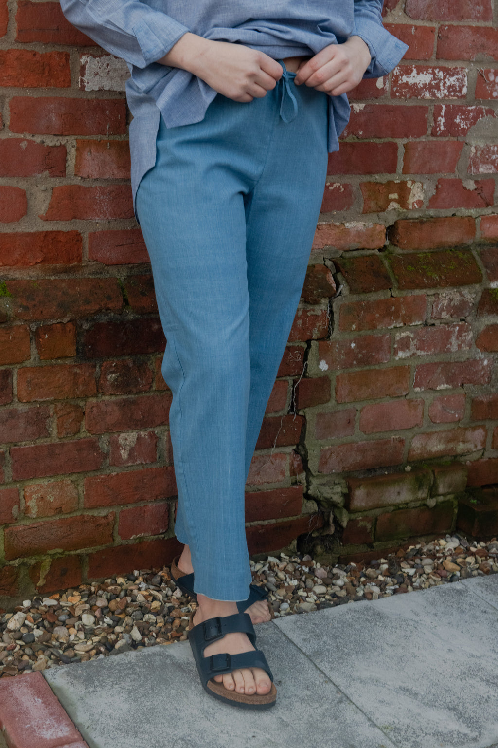 Sky Blue Khadi Trousers
