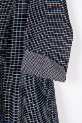 Classic Dress in Lightweight Check Khadi