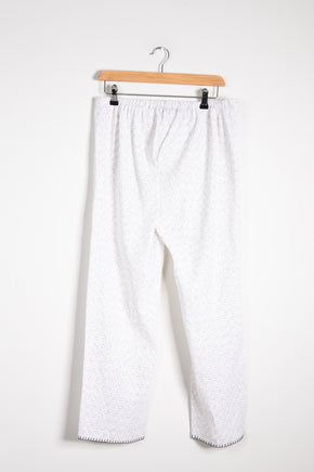 White and Black Khadi Drawstring Trousers *xs only*