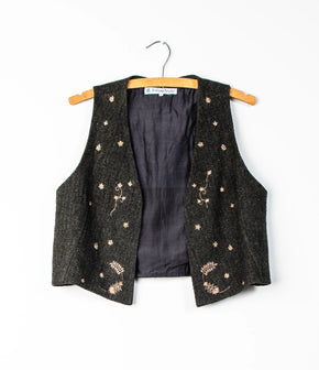 Embroidered wool waistcoat *one remaining*