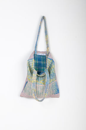 Kantha Tote Bag in Soft Faded Colours