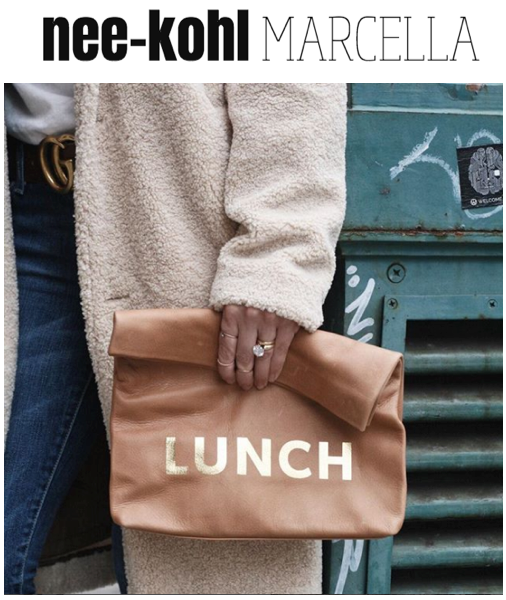 The Lunch in Washed Brown Printed on Nicole Marcella