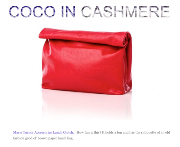 Lunch in Pebble Red in Coco In Cashmere