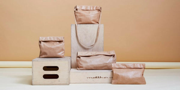 MARIE TURNOR CLASSIC ROLLTOP PAPER BAG CLUTCH