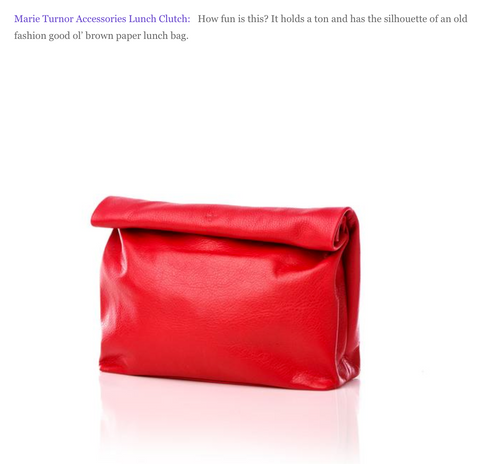 Coco in Cashmere Blog Red Lunch Clutch