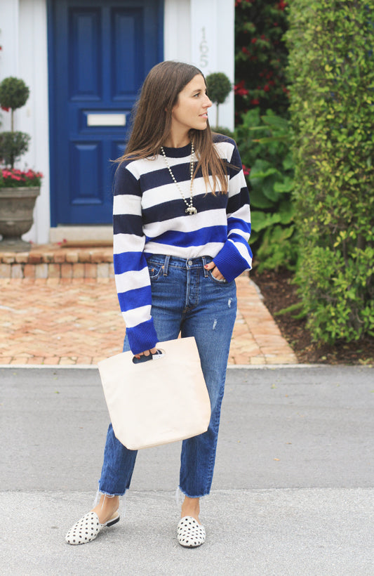 VERY ALLEGRA FASHION BLOG EMPORTE TOTE OUTFIT