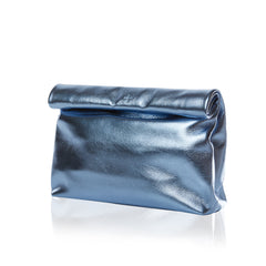 marie turnor lunch baby blue metallic leather
