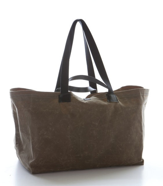 The Idea Bag, Large — Natural Waxed Canvas