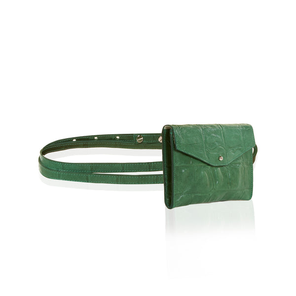 The Rendezvous Belt Bag - Green Reptile