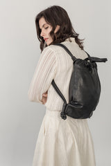 The Nouveau Back Pack —  Pebble Black