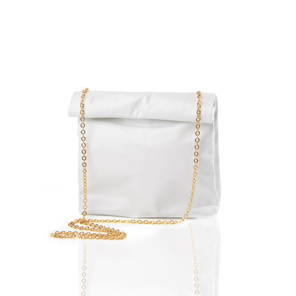 The Picnic To-Go with Gold Chain — White