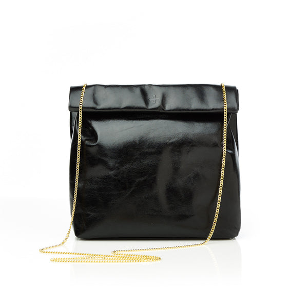 The Picnic To-Go with Gold Chain— Black