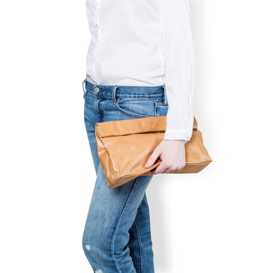 Large Tan Clutch