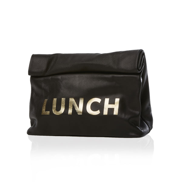 The Lunch — Black, Gold Print
