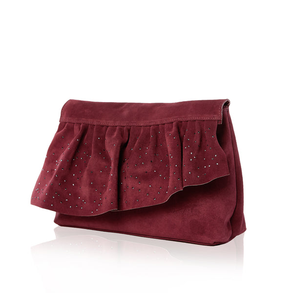 The Ruffle Clutch — Limited Edition Swarovski Crystal