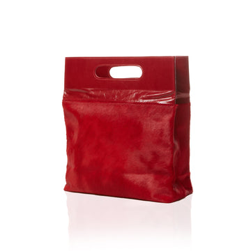 Women's Red Leather Handbag