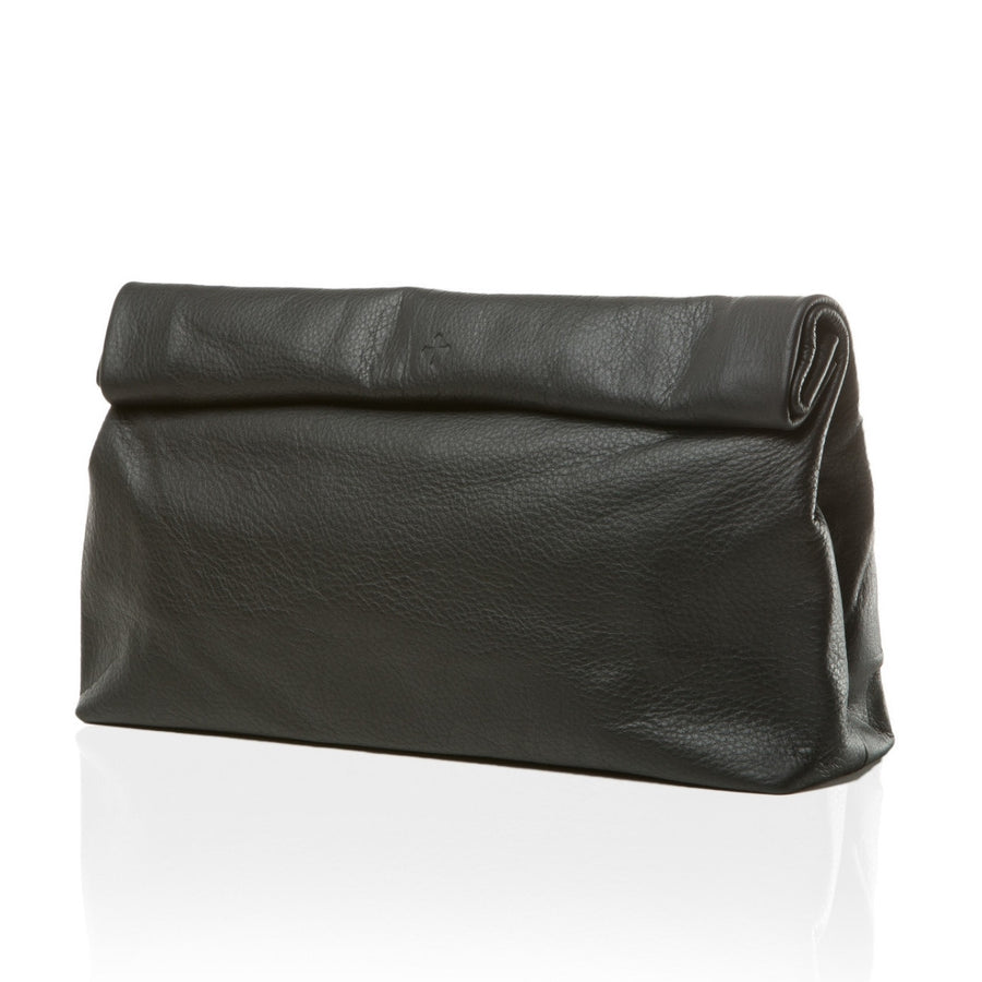 Large Pebble Black Women's Dinner Clutch