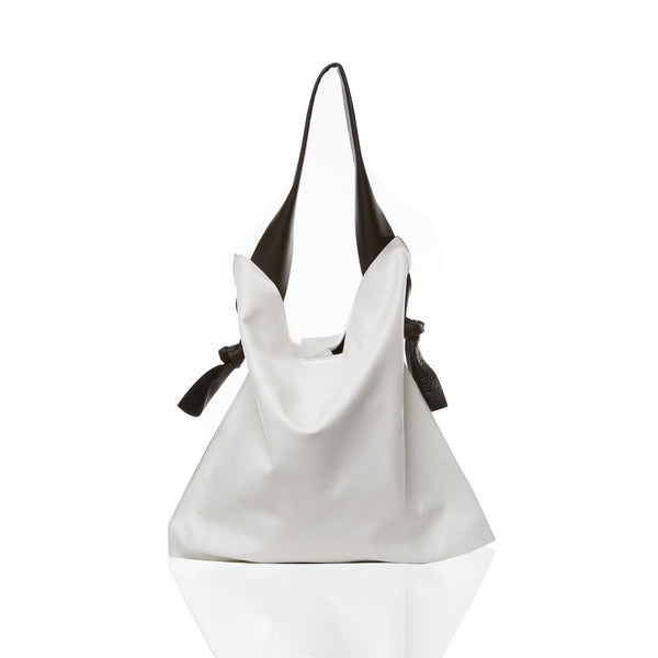The Knot Tote - Pebble White