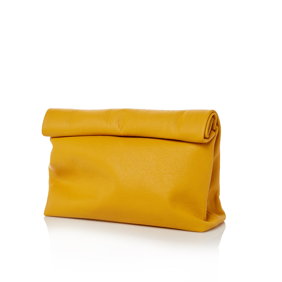 Women's Mustard Colored Clutch Handbag