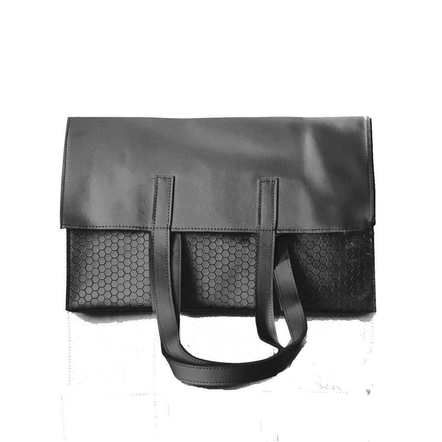 Marie Turnor NEW Trader Tote Black Honeycomb