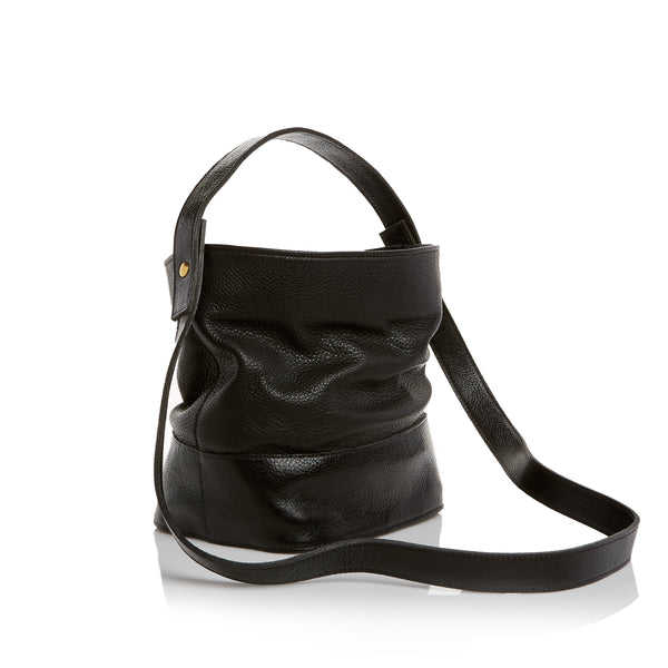 The Nouveau Bucket Bag - Pebble Black