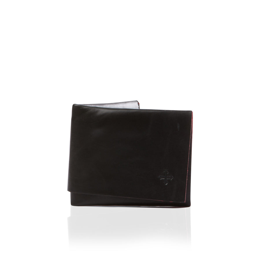 Marie Turnor Origami Wallet Black+Red