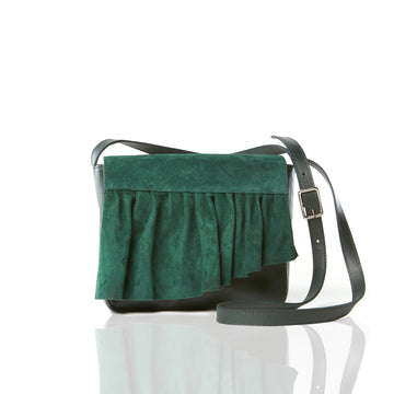 The Ruffle Crossbody Mini — Forest