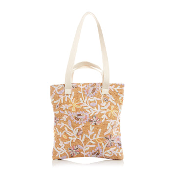The Flat Tote — Vegan Paisley Cork
