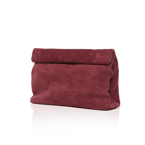 The Lunch — Burgundy Suede