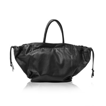 The Nouveau Basket Tote - Pebble Black