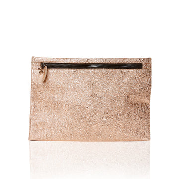 Marie Turnor Slider Clutch Peach Foil