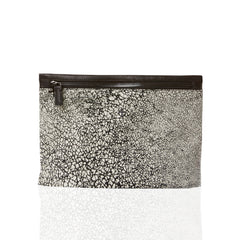 Marie Turnor Slider Clutch Black and white crackle