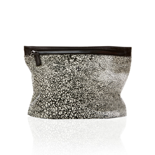 The Slider Clutch - Black & White Crackle