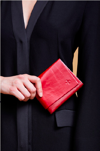 Marie Turnor Origami wallet red and black