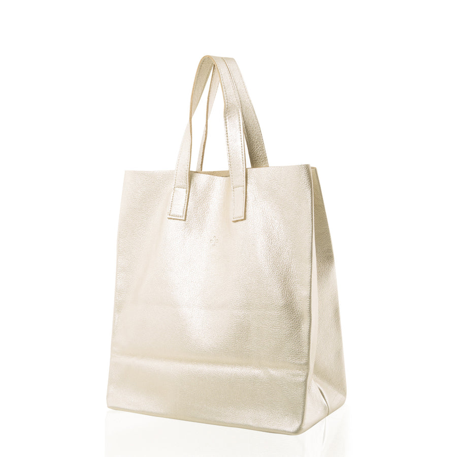 Marie Turnor Trader Tote Pebble Platinum