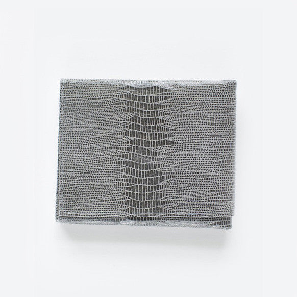 Marie Turnor The Origami Wallet-Grey Lizard Embossed Leather