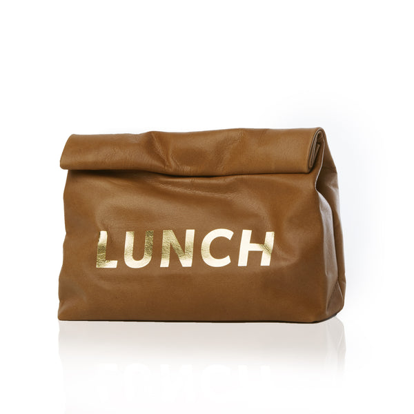 The Lunch — Washed Brown, Gold Print