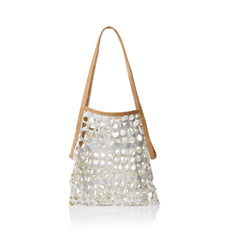 marie turnor market bag metallic Silver