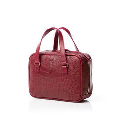 The Nonchalant Bag - Croc Marsala