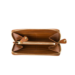 Marie Turnor Zip Wallet Cognac