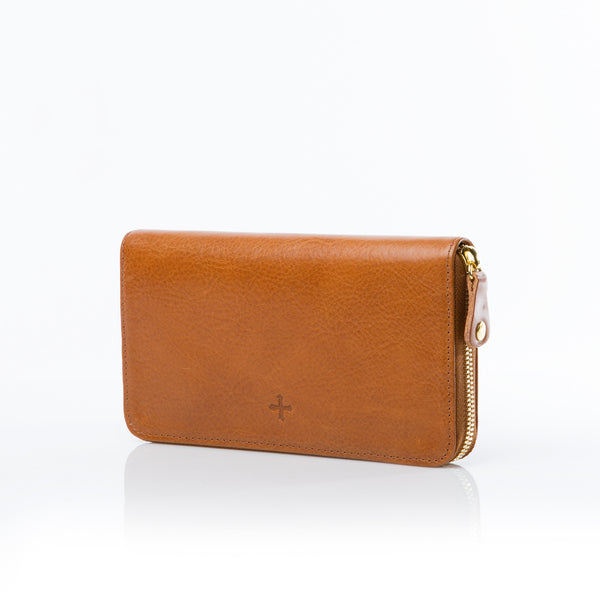 The Zip Wallet - Tan