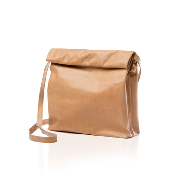 Women's Tan Leather Crossbody Purse