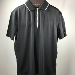 Black Tommy Hilfiger TH Tec Golf Shirt