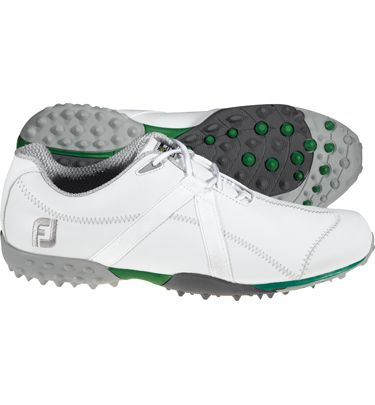 White Footjoy M Project Leather Spikeless Golf Shoe