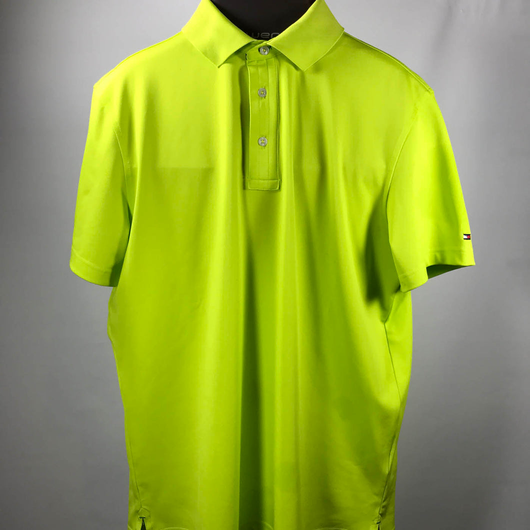 Bright Green Tommy Hilfiger TH Tec Golf Shirt