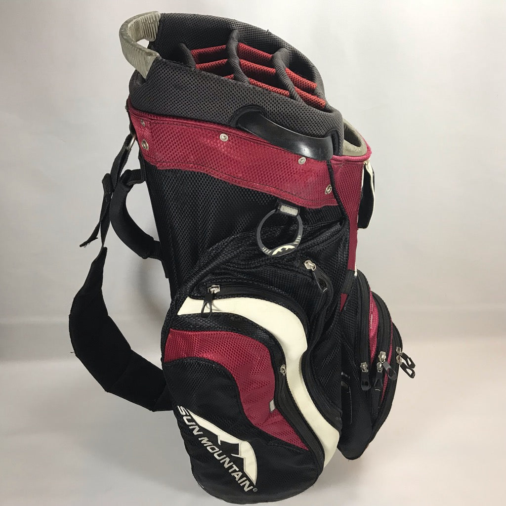 Sun Mountain C-130 Red-Black Cart Bag