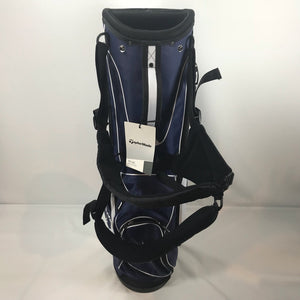 TaylorMade White/Blue Lightweight Stand Bag