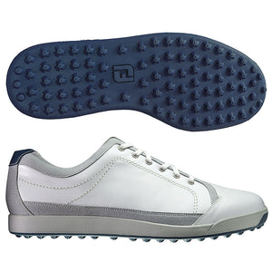 White Footjoy Contour Casual Leather Golf Shoe